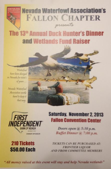 Nevada Waterfowl 13th Annual Duck Hunter Dinner